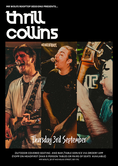 Thrill Collins Live – Mr Wolfs Rooftop Sessions at Mr Wolfs in Bristol