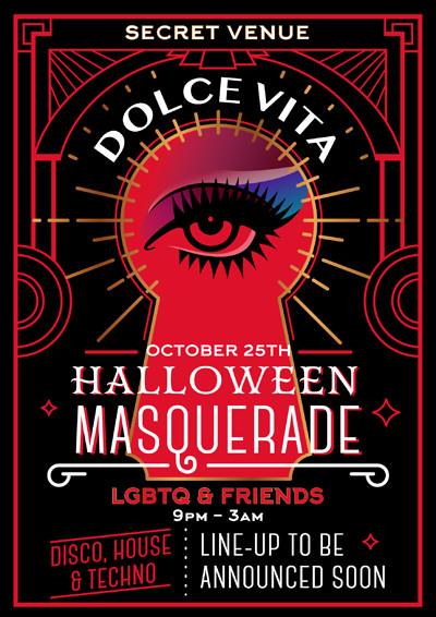 Dolce Vita Halloween Masquerade at Noche Negra in Bristol