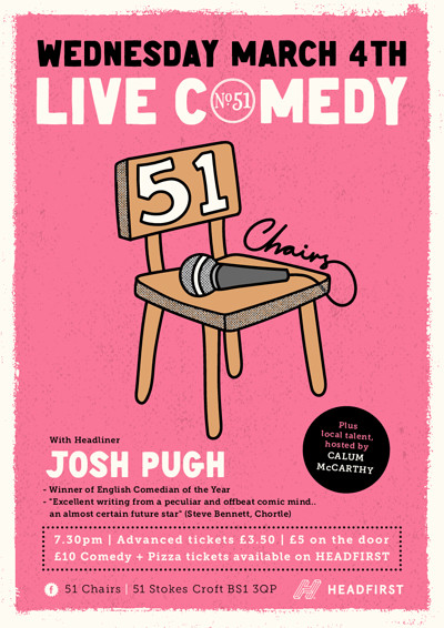 51 Chairs, LIVE COMEDY  at Number 51 in Bristol