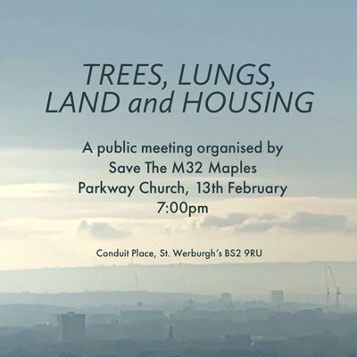 Trees, Lungs, Land and Housing at Parkway Methodist Church in Bristol