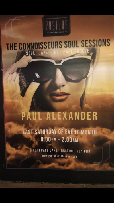 Connoiseur Soul Sessions  at Pasture in Bristol
