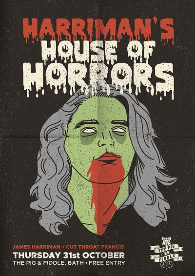 Harriman's House Of Horrors (Live Music) at Pig And Fiddle (Bath) in Bristol
