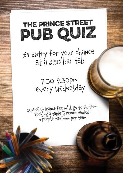 Pub Quiz at Prince Street Social in Bristol