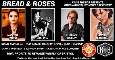 Bread & Roses | International Women's Day Poetry at PRSC in Bristol