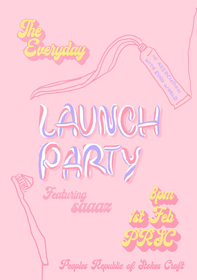 The Everyday Magazine Launch Party at PRSC in Bristol
