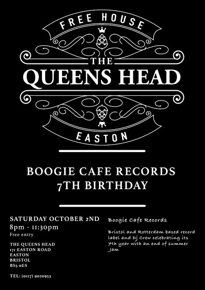 Boogie Cafe Records  at Queens Head Easton in Bristol