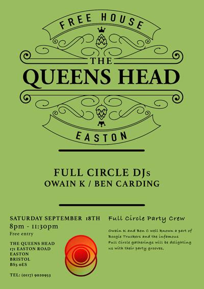 Full Circle DJs - Owain K and Ben C at Queens Head Easton in Bristol