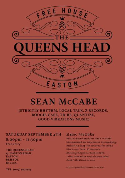 Sean McCabe at Queens Head Easton in Bristol