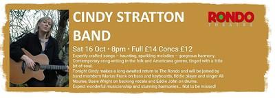 Cindy Stratton Band in concert at Rondo Theatre, Larkhall Bath in Bristol