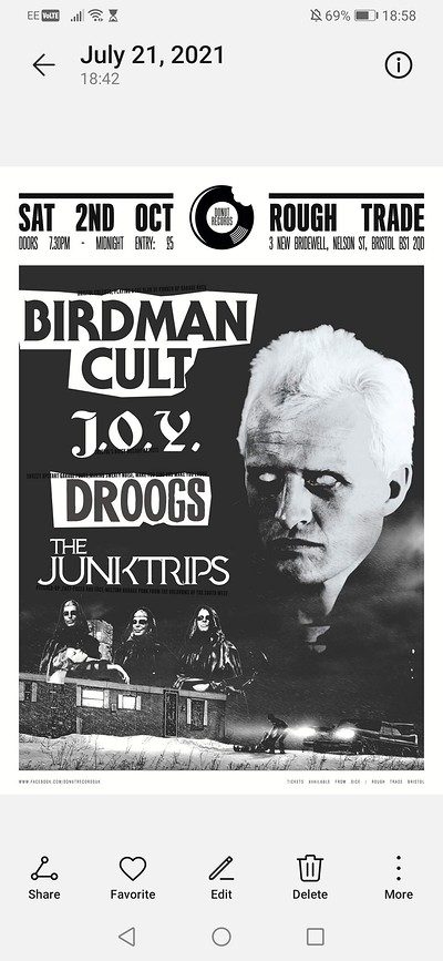 Birdman Cult / J.O.Y.   Junktrips / new america at Rough Trade Bristol in Bristol