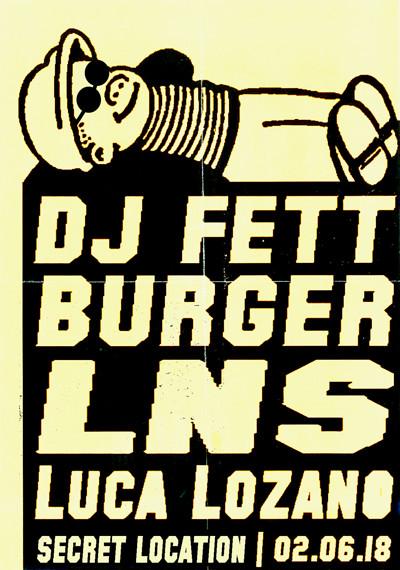 Musu x Colours: DJ Fett Burger, Luca Lozano & LNS at Secret BS4 Warehouse Venue in Bristol