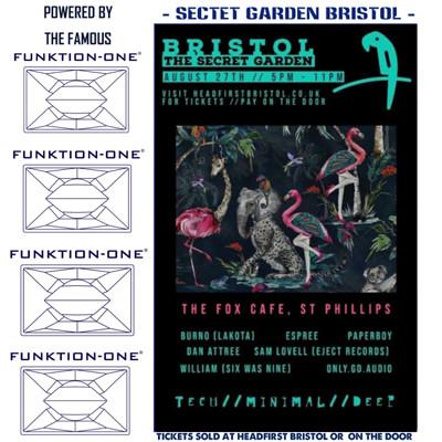 Minimal Groove  at Secret garden presents  in Bristol