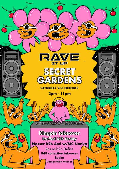 Rave It Up at Secret Gardens in Bristol
