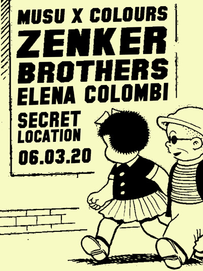 Musu x Colours w/ Zenker Brothers & Elena Colombi at Secret Location in Bristol