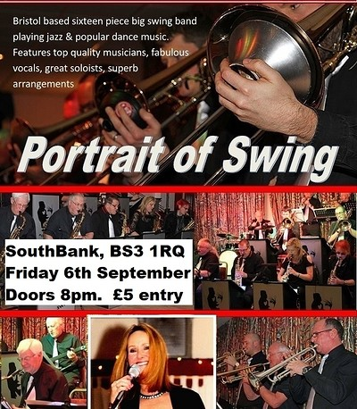 Portrait of Swing BIG BAND 8pm - 11pm at SouthBank in Bristol