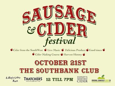 SouthBank Sausage & Cider Festival! at Southbank in Bristol