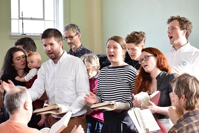 Sacred Harp singing at St Anne's Church Hall in Bristol