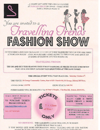 Travelling Trends Fashion Show  at St George Community Centre in Bristol