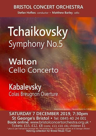 Bristol Concert Orchestra: Tchaikovsky's 5th Sym at St George's Bristol in Bristol