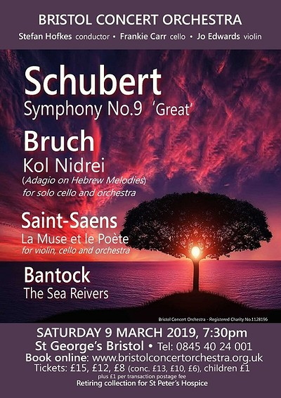 Bristol Concert Orchestra: Schubert's 9th at St George's in Bristol