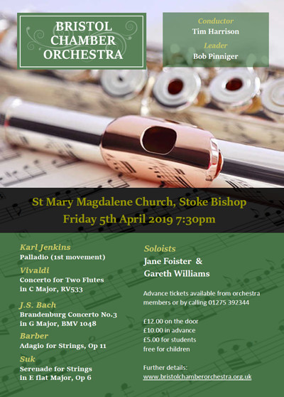 Bristol Chamber Orchestra Spring Concert at St. Mary Magdalene Church, Stoke Bishop in Bristol