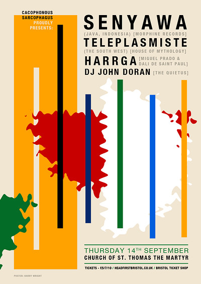 Senyawa, Teleplasmiste, Harrga & DJ John Doran at St Thomas the Martyr in Bristol