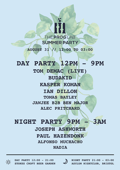 The Prog Lab Summer Party at Stokes Croft Beer Garden in Bristol