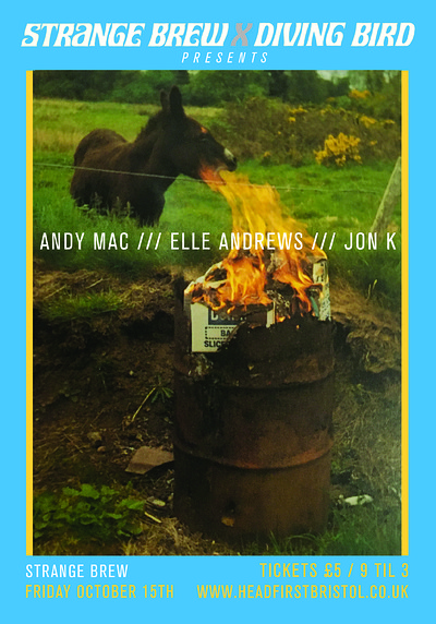 Jon K, Elle Andrews & Andy Mac at Strange Brew in Bristol
