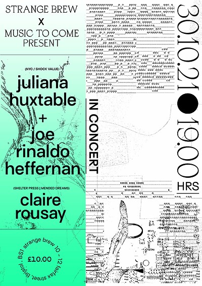 Juliana Huxtable & claire rousay at Strange Brew in Bristol