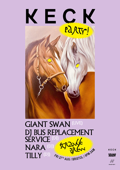 KECK PARTY!!! GIANT SWAN (LIVE) /  DJ BRS + MORE! at Strange Brew in Bristol