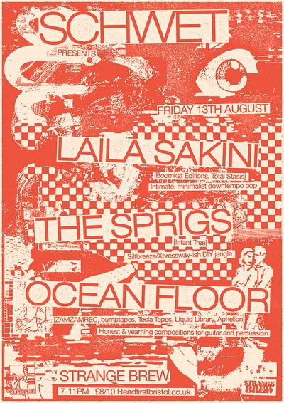 Schwet with Laila Sakini, The Sprigs & Ocean Floor at Strange Brew in Bristol