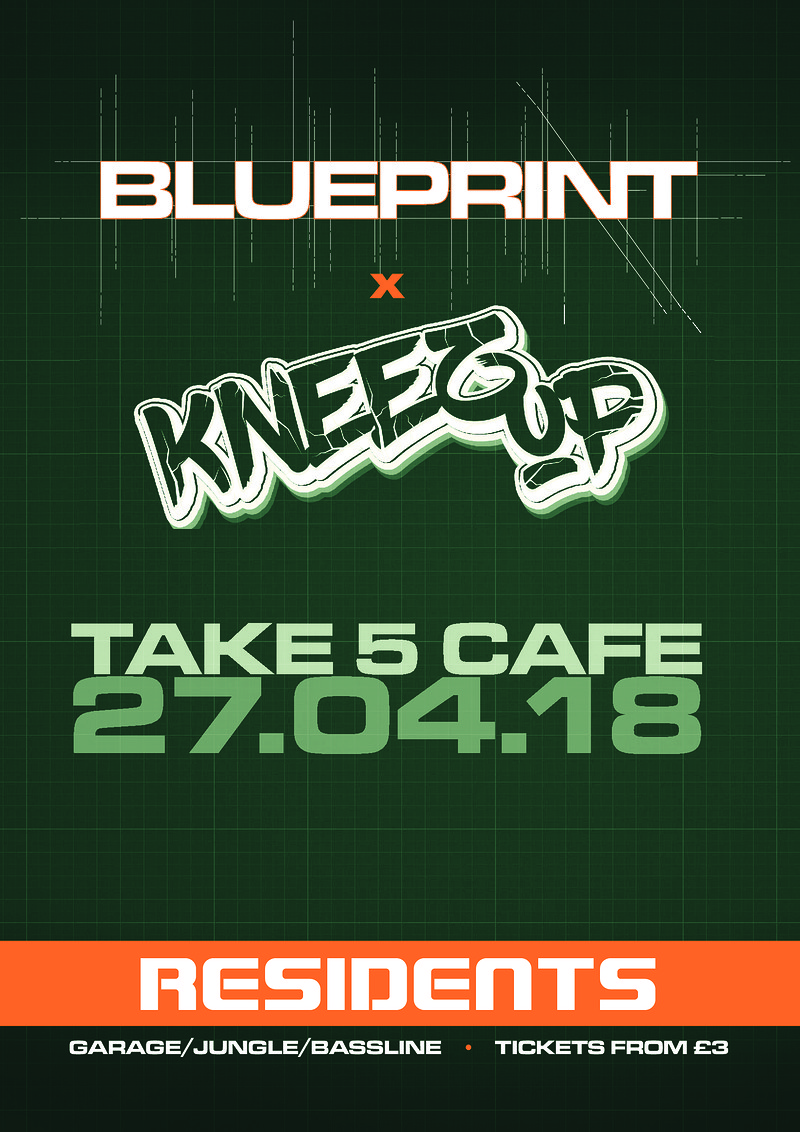 Blueprint x kneez up tickets take five cafe 500 from headfirst malvernweather