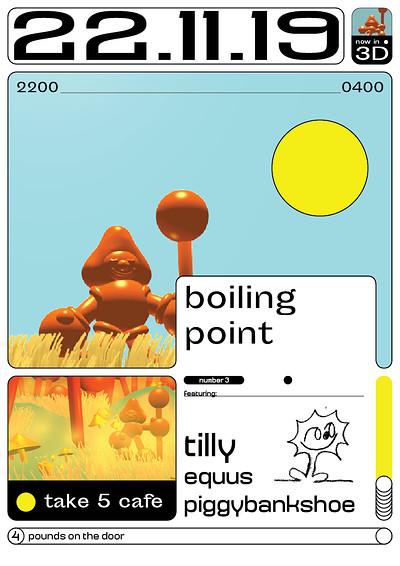 Boiling Point Vol.3 w/Tilly, Equus & Piggybankshoe at Take Five Cafe in Bristol