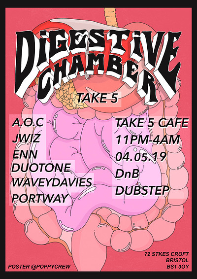 Digestive Chamber 3 at Take Five Cafe in Bristol