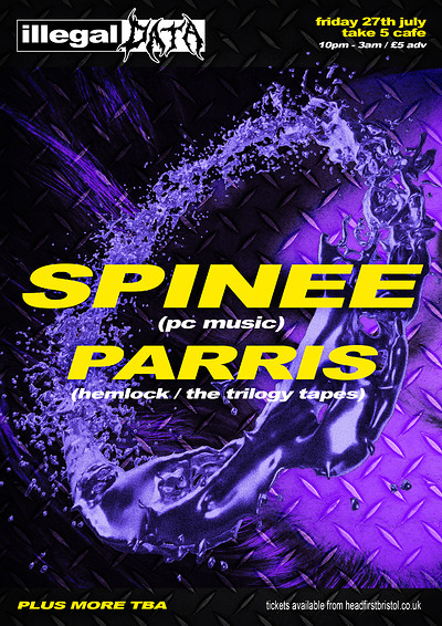 Illegal Data #3: SPINEE + PARRIS + more at Take Five Cafe in Bristol