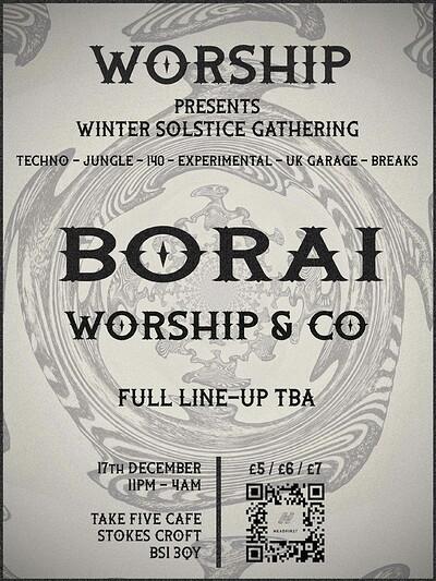 WORSHIP: Winter Solstice Gathering with Borai at Take Five Cafe in Bristol
