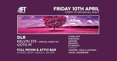 AFT present DLR, Kelvin 373 & more at The Attic Bar in Bristol