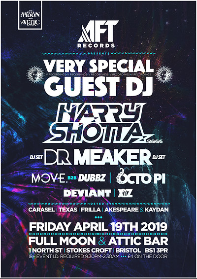 AFT RECORDS: Special Guest, Harry Shotta & more at The Attic Bar in Bristol