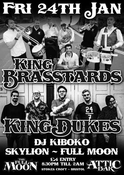 King Brasstards / King Dukes at The Attic Bar in Bristol