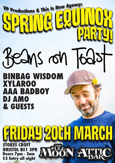 Spring Equinox Party feat. Beans On Toast at The Attic Bar in Bristol