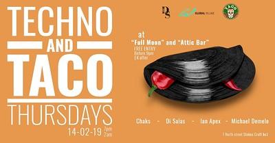 Techno & Taco Thursday! at The Attic Bar in Bristol