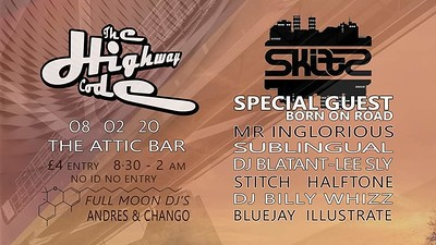 THC Present: DADDY SKITZ at The Attic Bar in Bristol