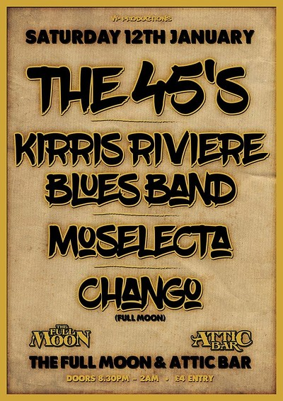 The 45's / Kirris Riviere Blues Band at The Attic Bar in Bristol