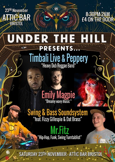 Timbali Live / Swing & Bass Soundsystem at The Attic Bar in Bristol