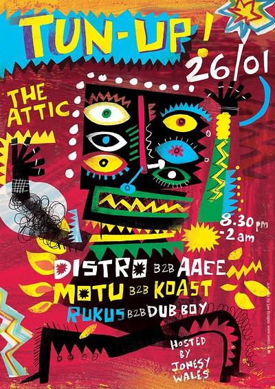 TUN UP! Feat. Distro / AAEE / Motu / Koast at The Attic Bar in Bristol