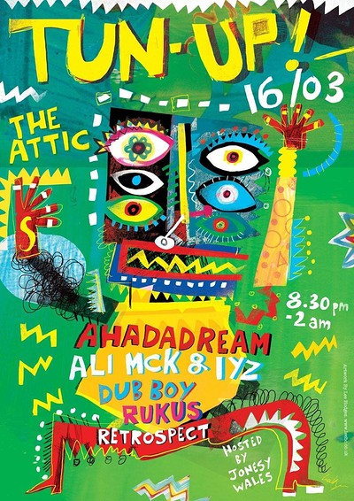 TUN UP! Ft. Ahadadream and Ali Mck & IYZ at The Attic Bar in Bristol
