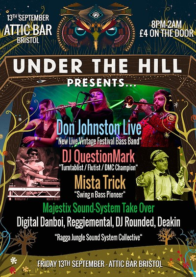UTH Presents. Don Johnston Live / DJ QuestionMark  at The Attic Bar in Bristol