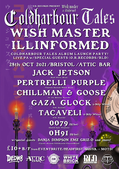 Wish Master X llinformed Cold Harbour Tales  Album at The Attic Bar in Bristol