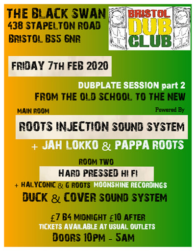 Bristol Dub Club: Dubplate Session at The Black Swan in Bristol