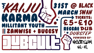 DUBCULT // Kaiju / Karma + More at The Black Swan in Bristol